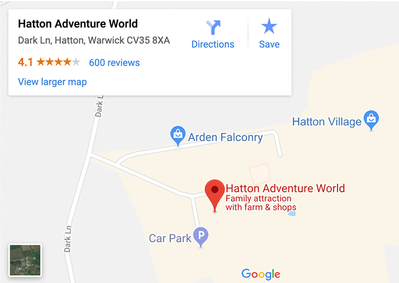 Hatton Adventure World Google Maps