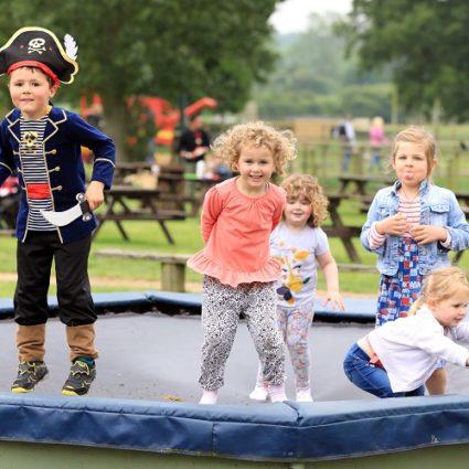 Hatton Pirate Festival Kids on Trampolines