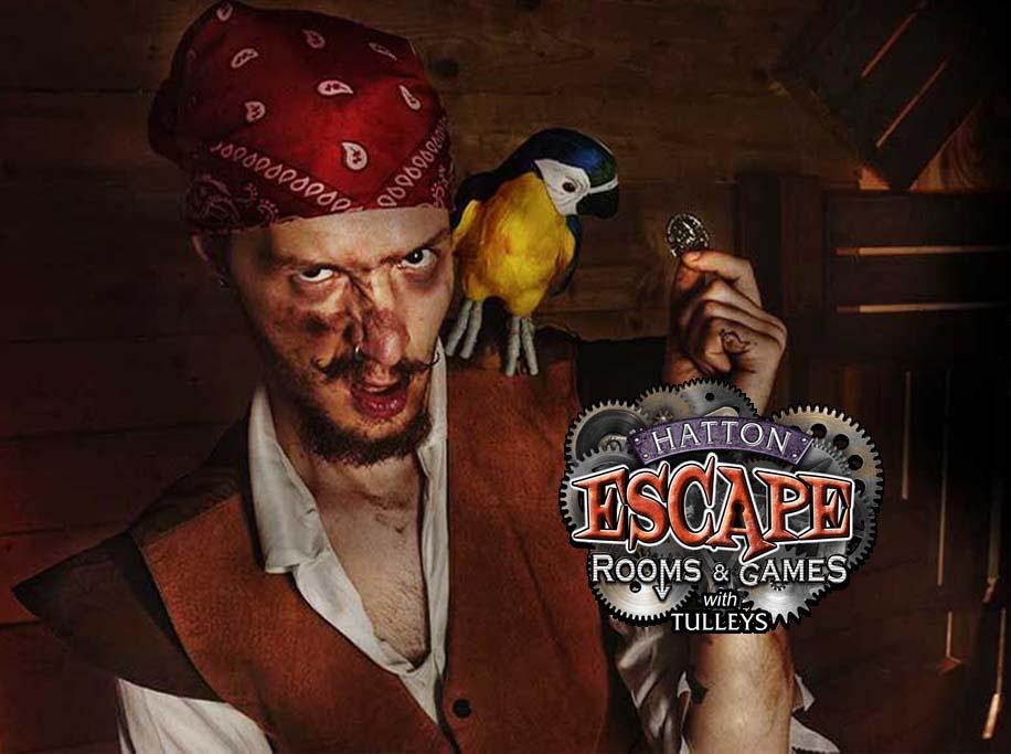 Hatton Escape Rooms Pirate logo Banner